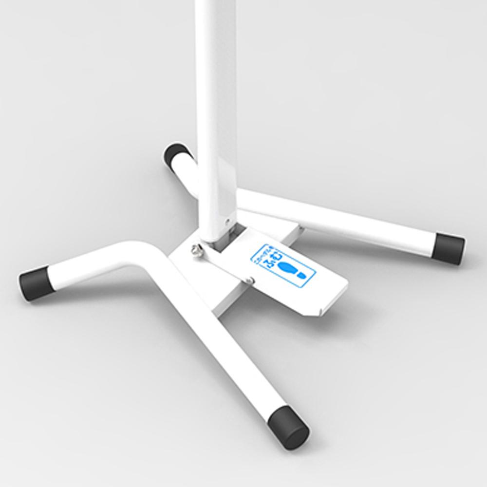 足踏み消毒ポンプスタンド FPS-101W (完成状態梱包)日本製