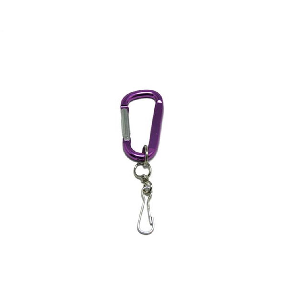 アルミフックD型ホルダー付80 紫