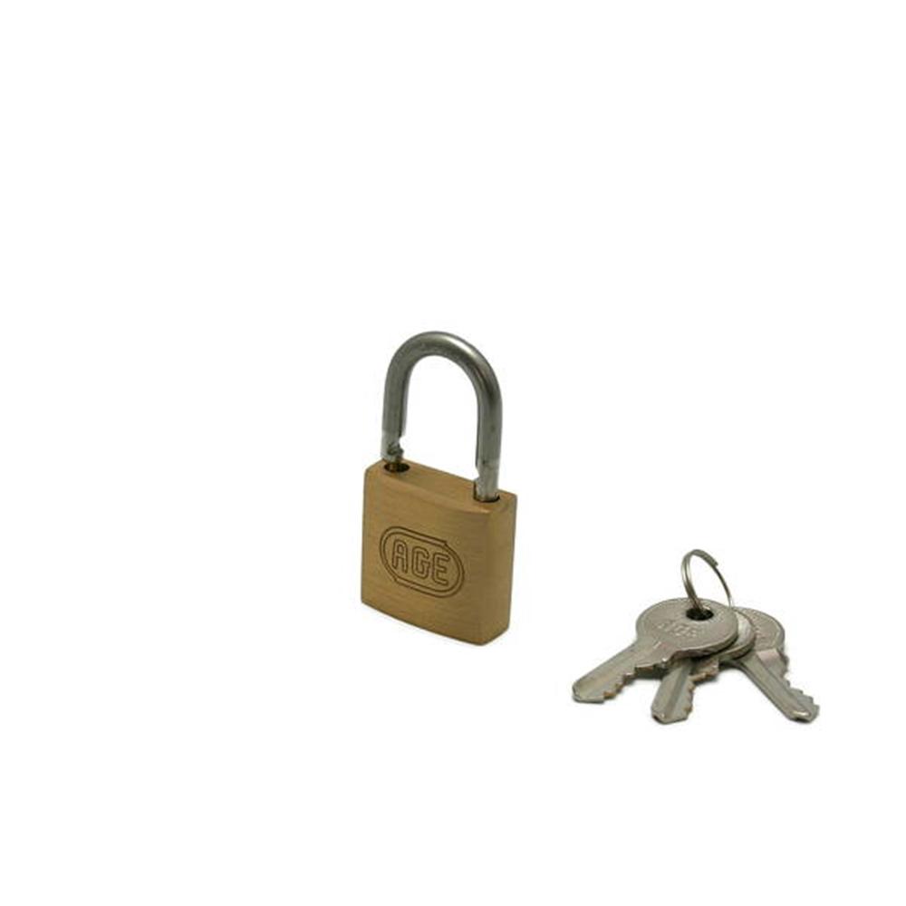 G022ステンWロック南京錠30mm同一鍵 3本キー