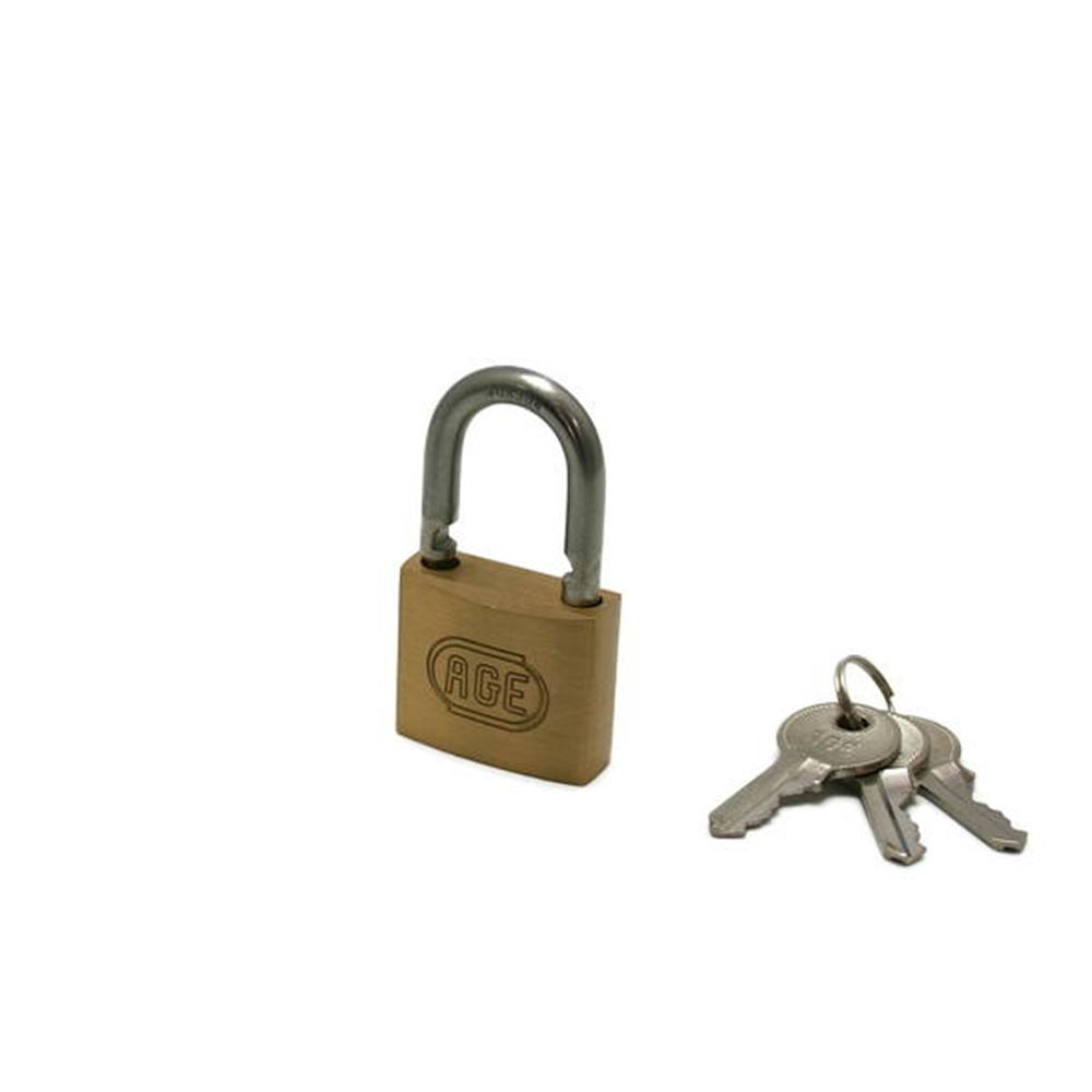 G023ステンWロック南京錠35mm同一鍵 3本キー