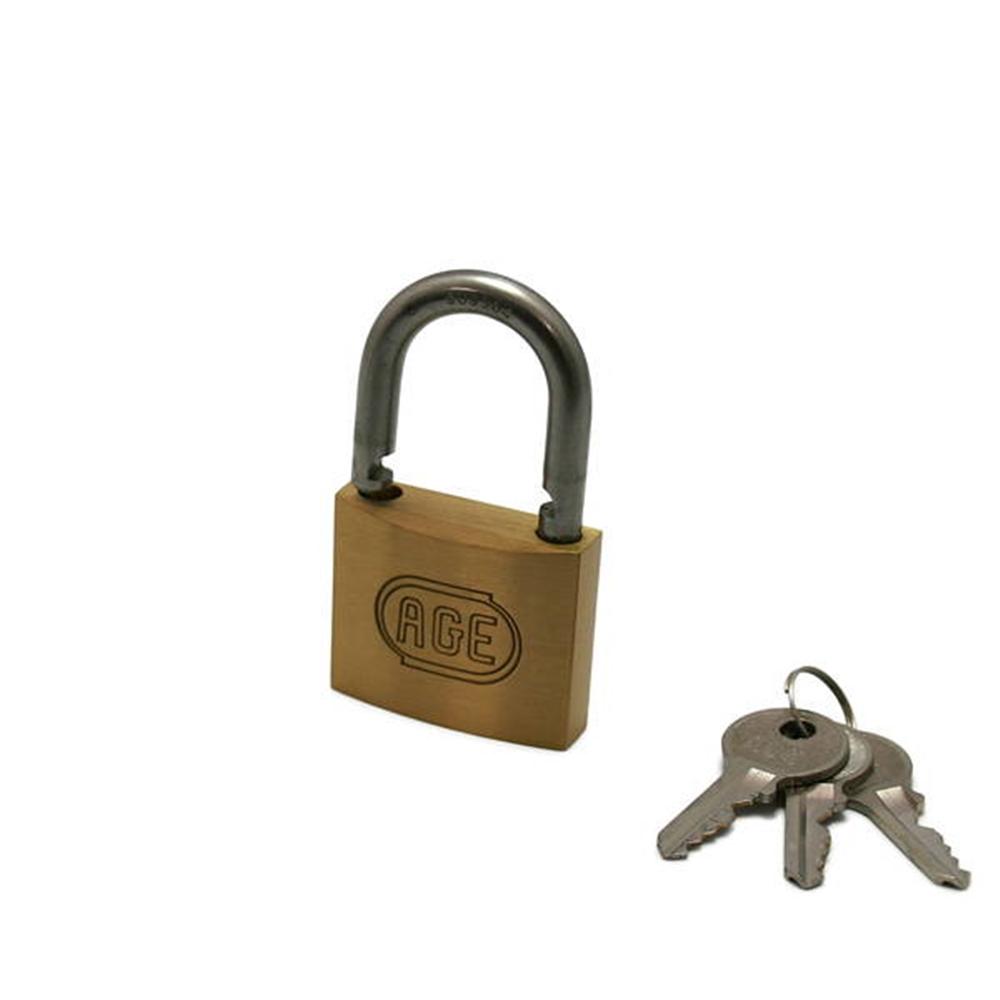 G026ステンWロック南京錠45mm同一鍵 3本キー