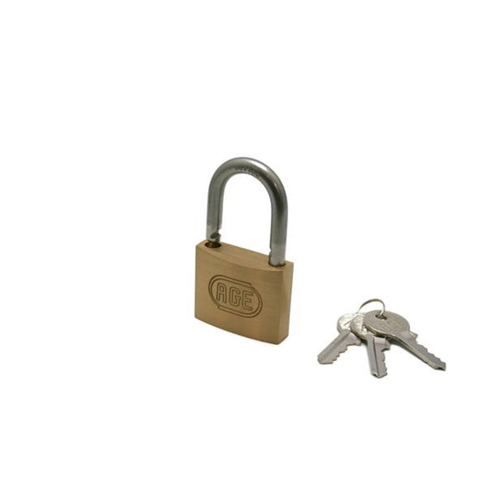 G030ステンWロック南京錠50mm同一鍵 3本キー