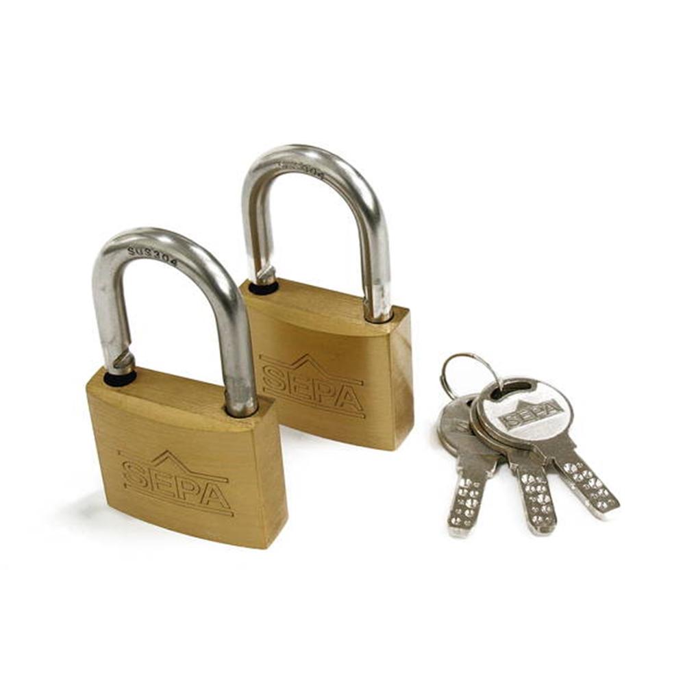 G265ディンプル南京錠40mm同一鍵2個