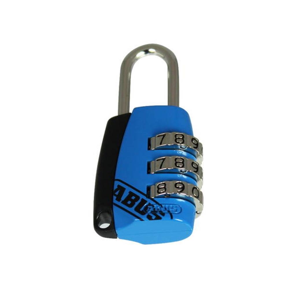 ABUS 3段文字合せ錠 ブルー
