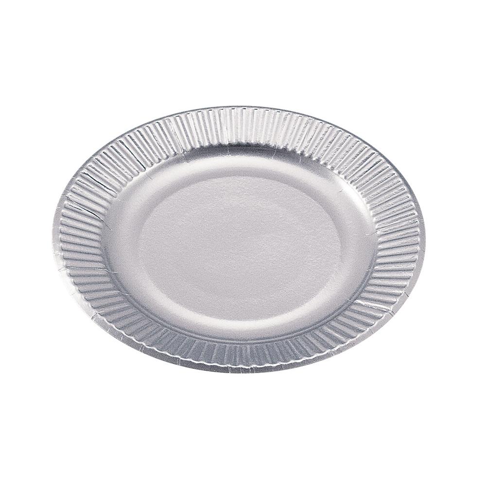 紙皿シルバープレート(100枚入) 5号