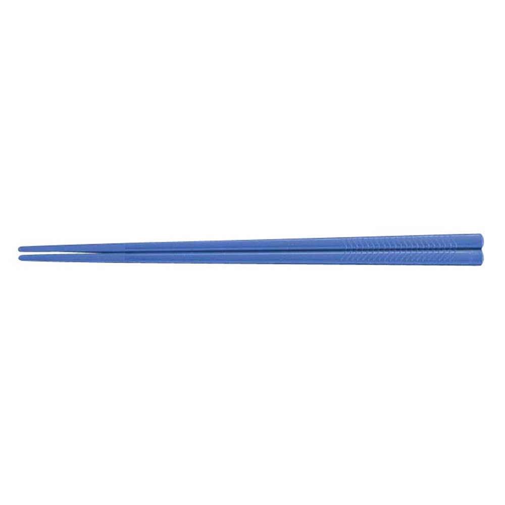PETすべり止め付彫刻入箸(100膳入) PT−195 ブルー