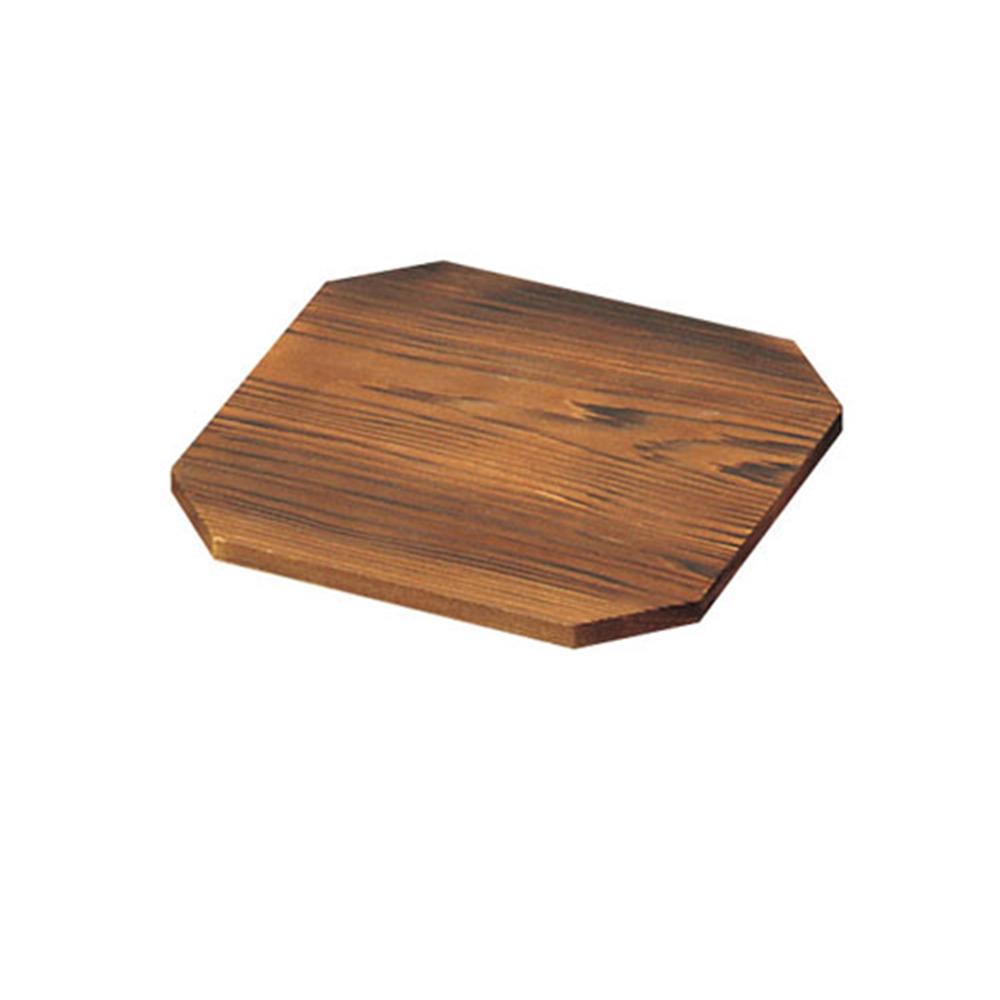 焼杉 八角敷板 13cm