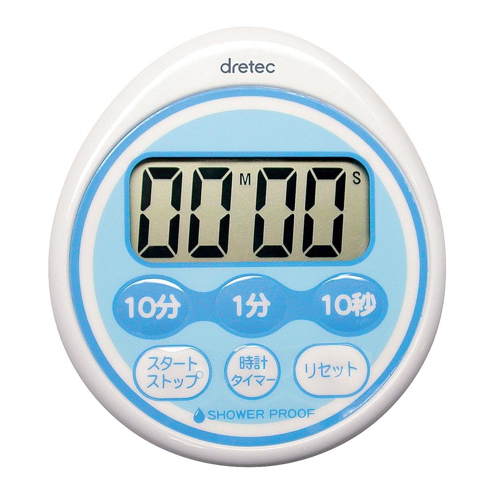 時計付防滴タイマー T−543BL (99分50秒計)