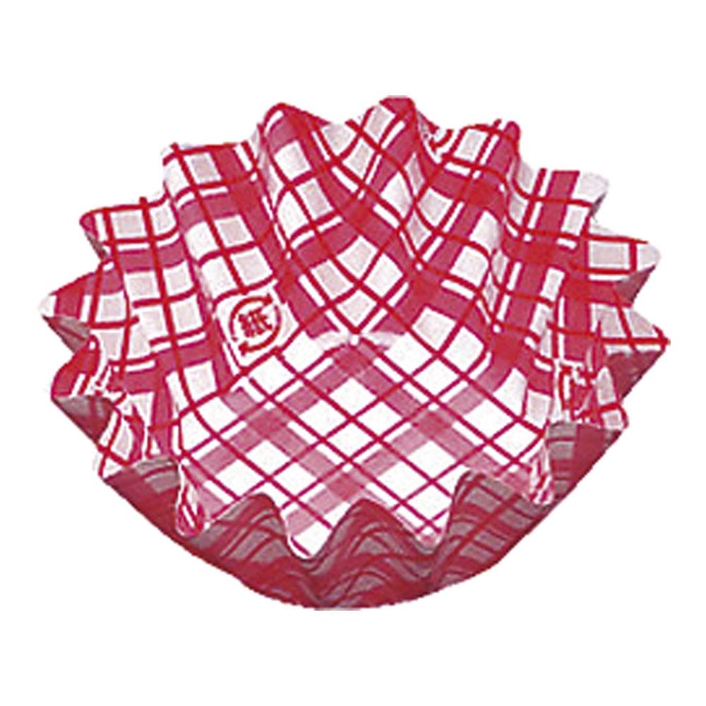 紙カップ ココケース 丸型(500枚入) 5号深 赤