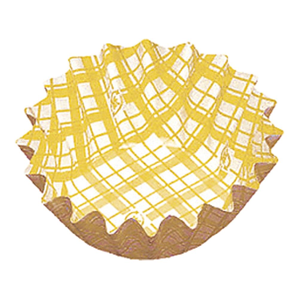 紙カップ ココケース 丸型(500枚入) 6号深 黄