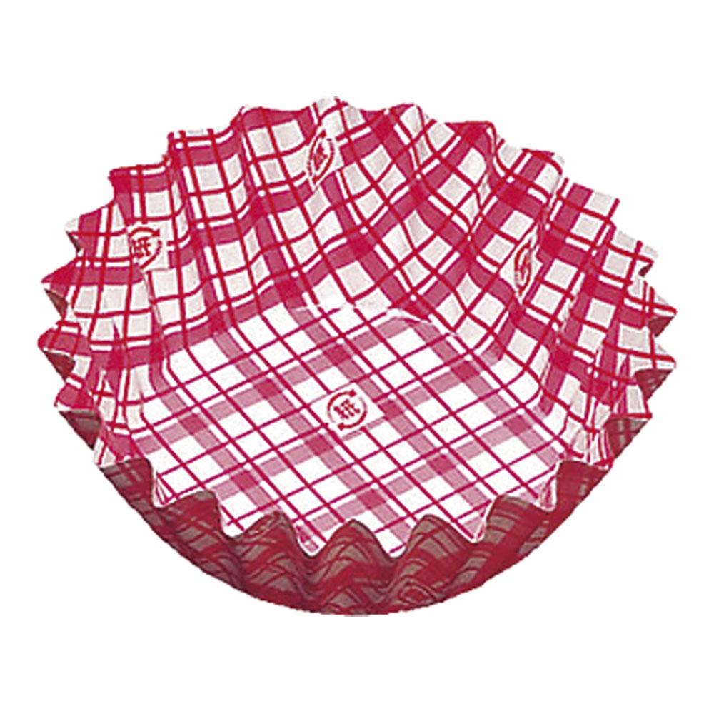 紙カップ ココケース 丸型(500枚入) 8号深 赤