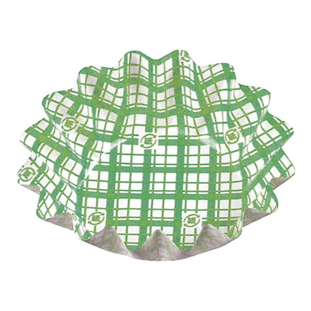 紙カップ ココケースひまわり 500枚入 大 緑