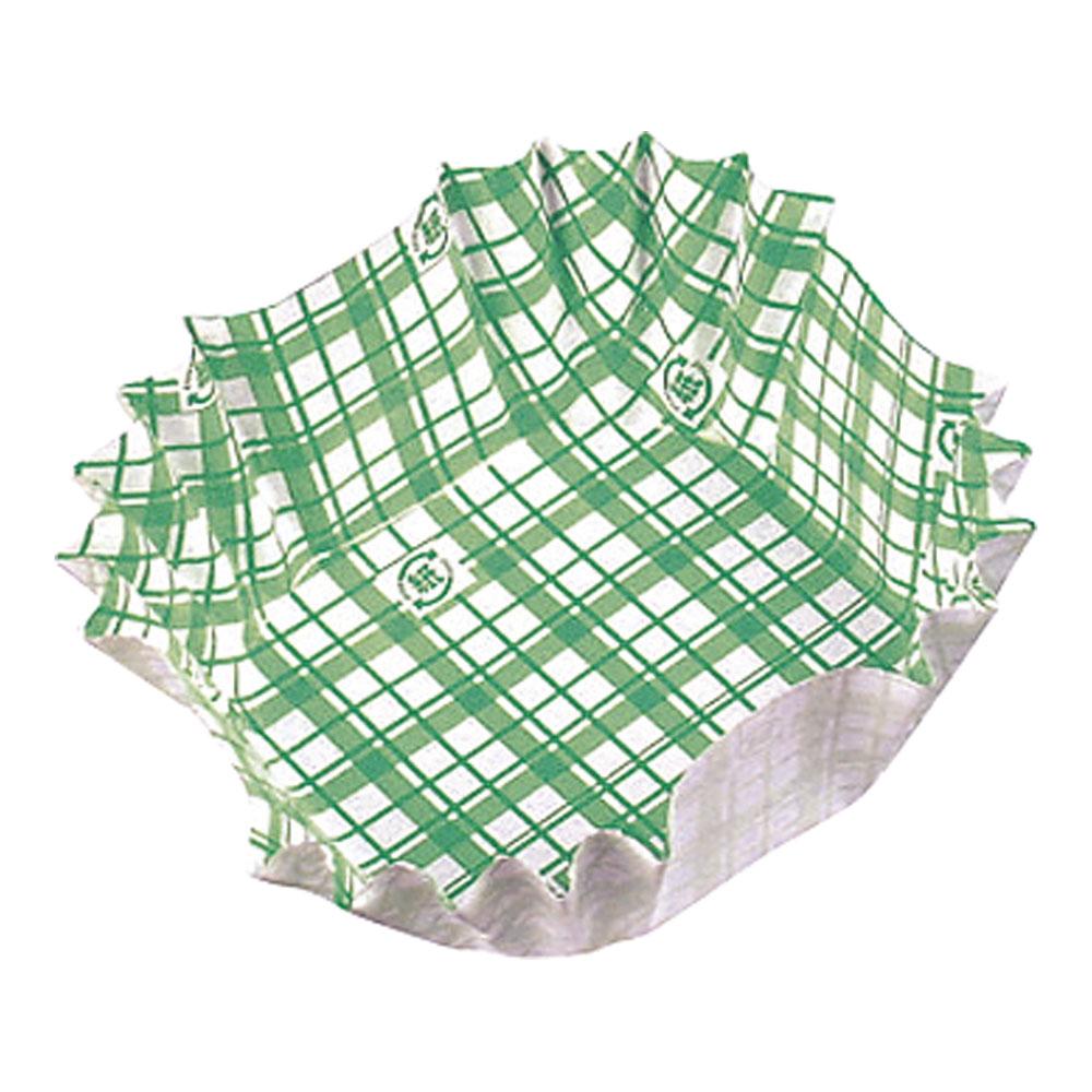紙カップ ココケース 正角(500枚入) 緑