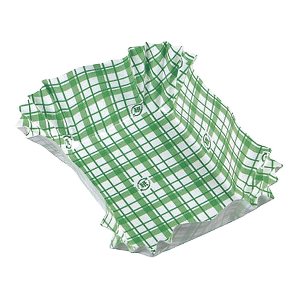 紙カップ ココケース 角大(500枚入) 緑