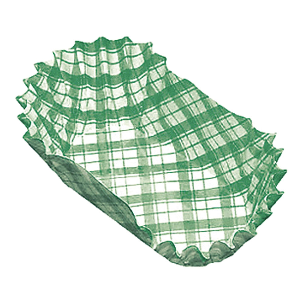 紙カップ ココケース小判型(500枚入) 7号 緑