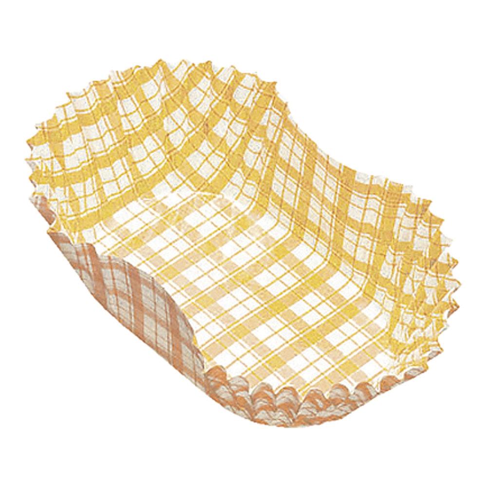 紙カップ ココケース小判型(500枚入) 8号 黄