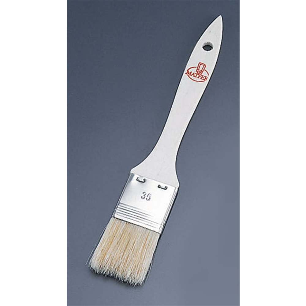 マトファ 豚毛ブラシ(木柄・鉄製金具) 81234 3.5cm
