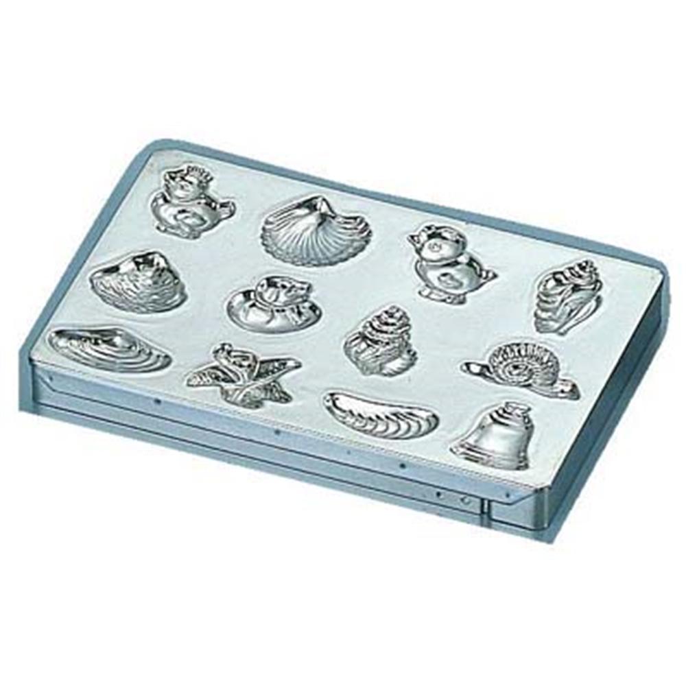 マトファ メタルチョコレートモルド 76612 貝殻シート12ヶ取
