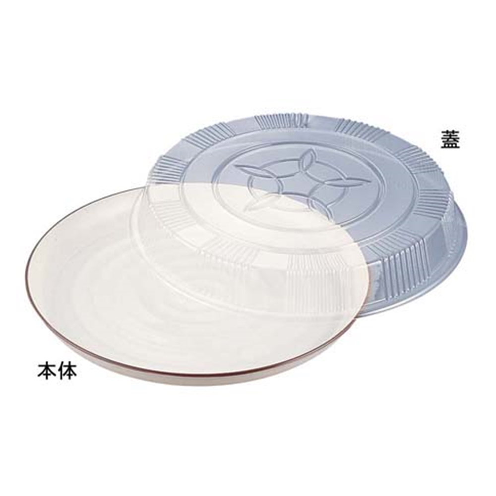 プラ容器 益子 茶フチ 48(10枚入)