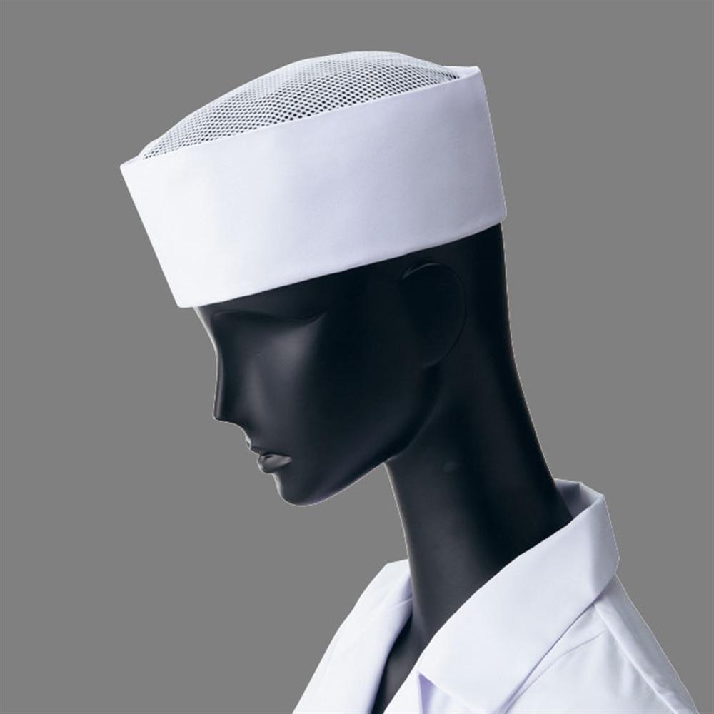 天メッシュ丸帽3(ホワイト) S