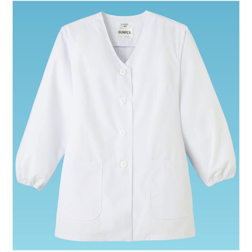 女性用調理衣 長袖 FA−330 3L