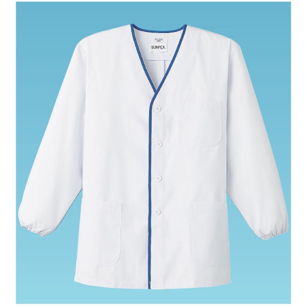 男性用デザイン白衣 長袖 FA−346 3L