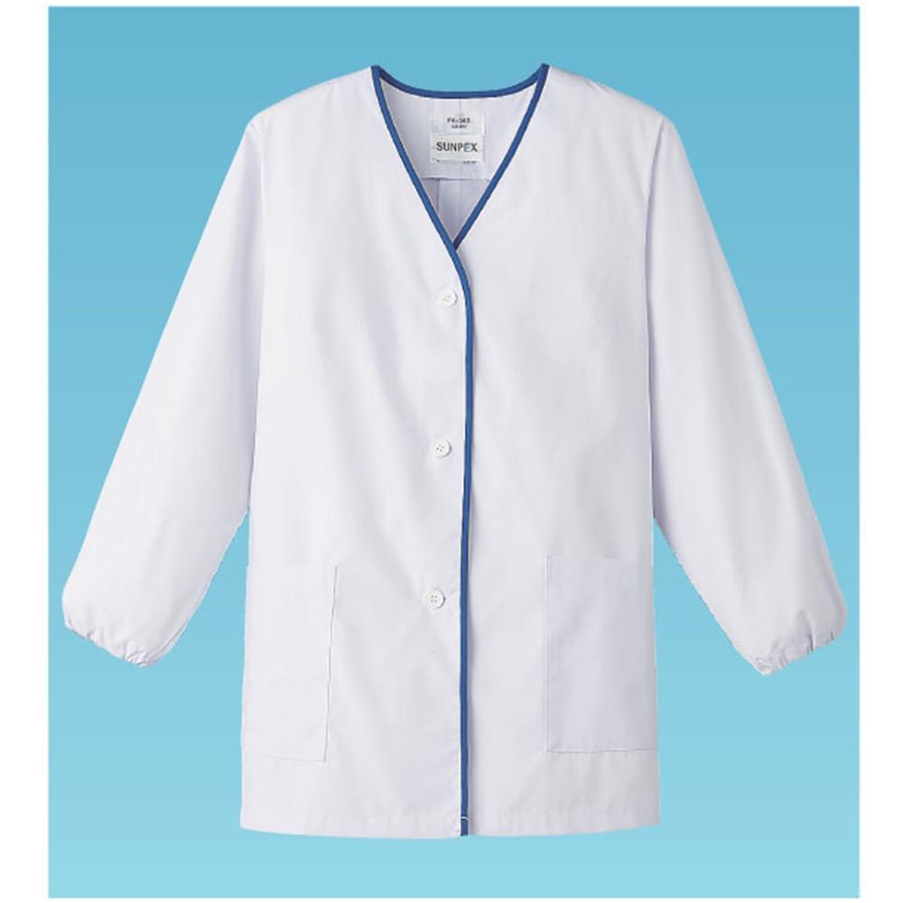 女性用デザイン白衣 長袖 FA−348 M