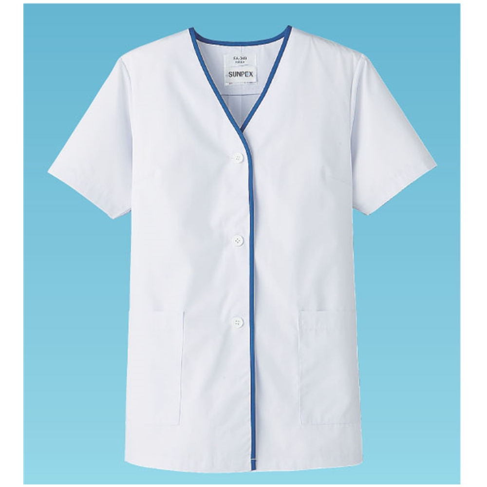女性用デザイン白衣 半袖 FA−349 M