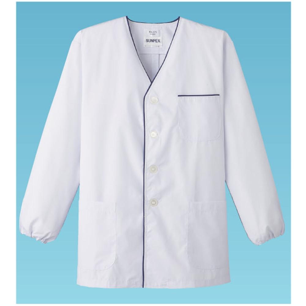 男性用デザイン白衣・長袖 FA−375 L (ホワイト)