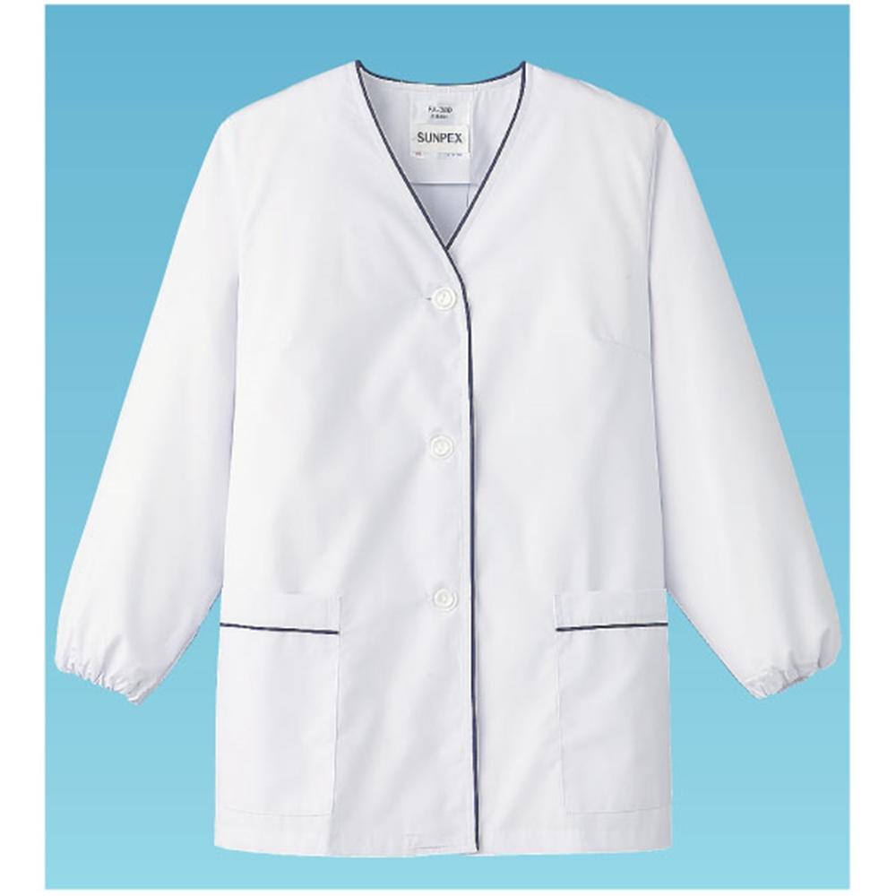 白衣・長袖 FA−380 (ホワイト) L