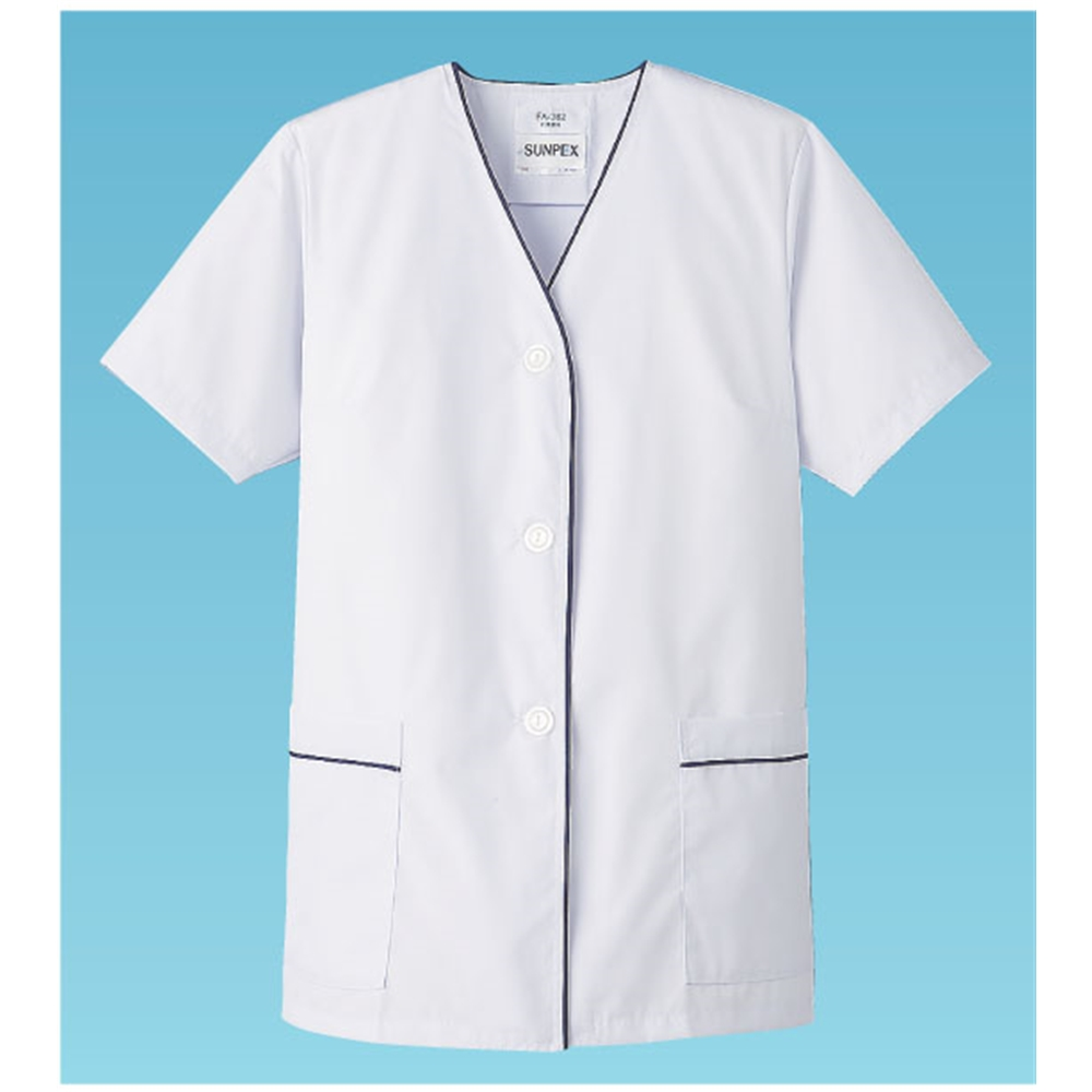 白衣・半袖 FA−382 (ホワイト) L