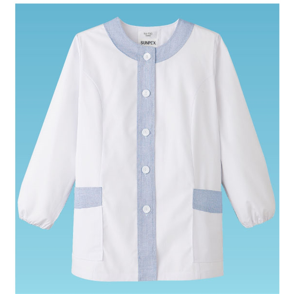 女性用デザイン白衣 長袖FA−720 LL