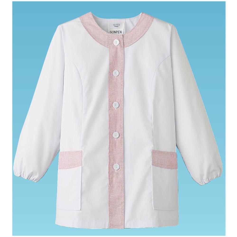 女性用デザイン白衣 長袖FA−723 M