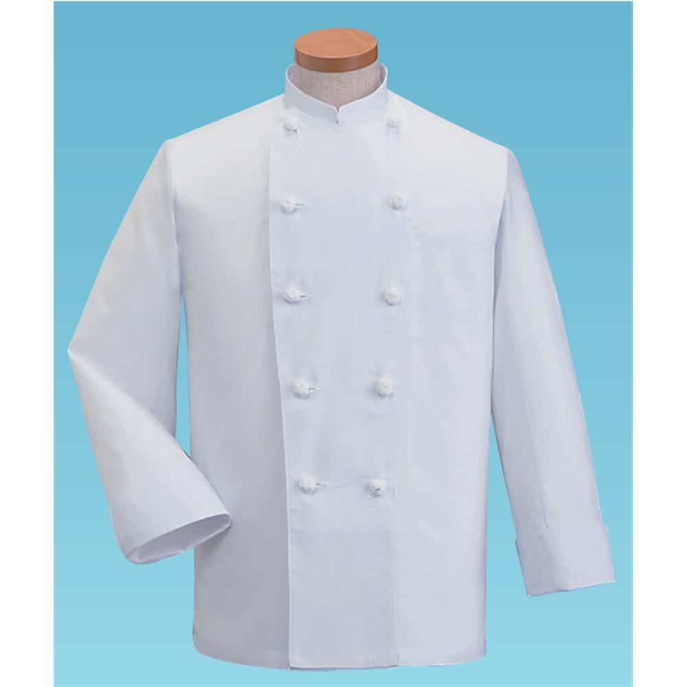 サマーコックコート・長袖KD−418 L (ホワイト)