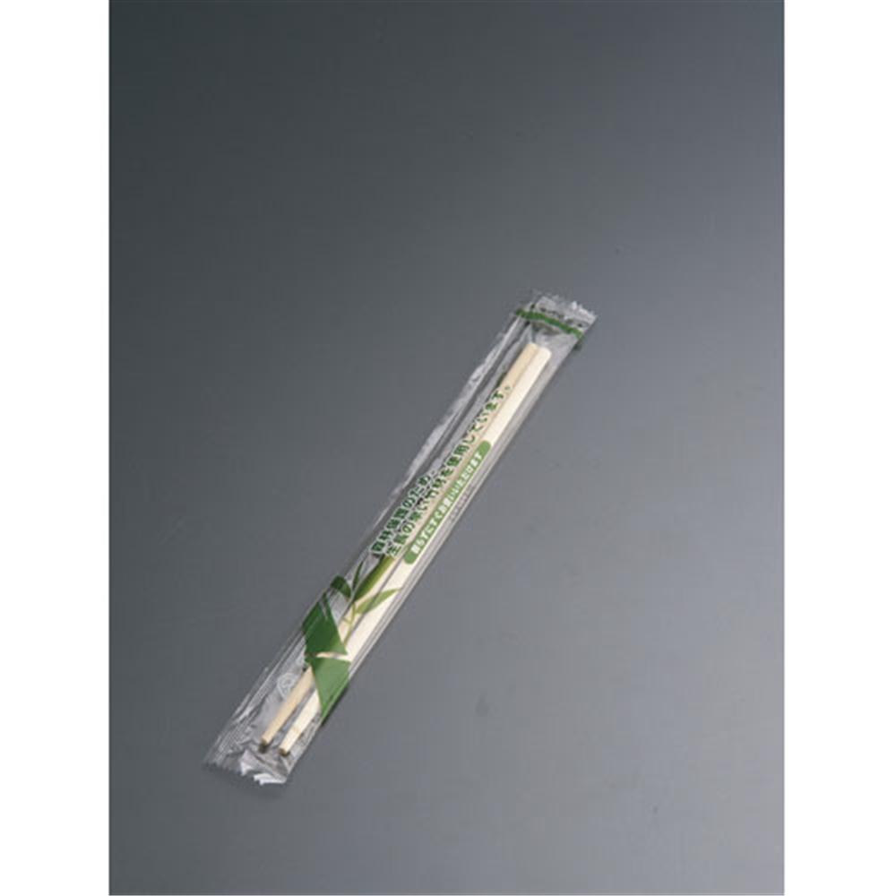 竹丸角 ポリ完封箸 楊枝入 20cm PK−016(100膳入)