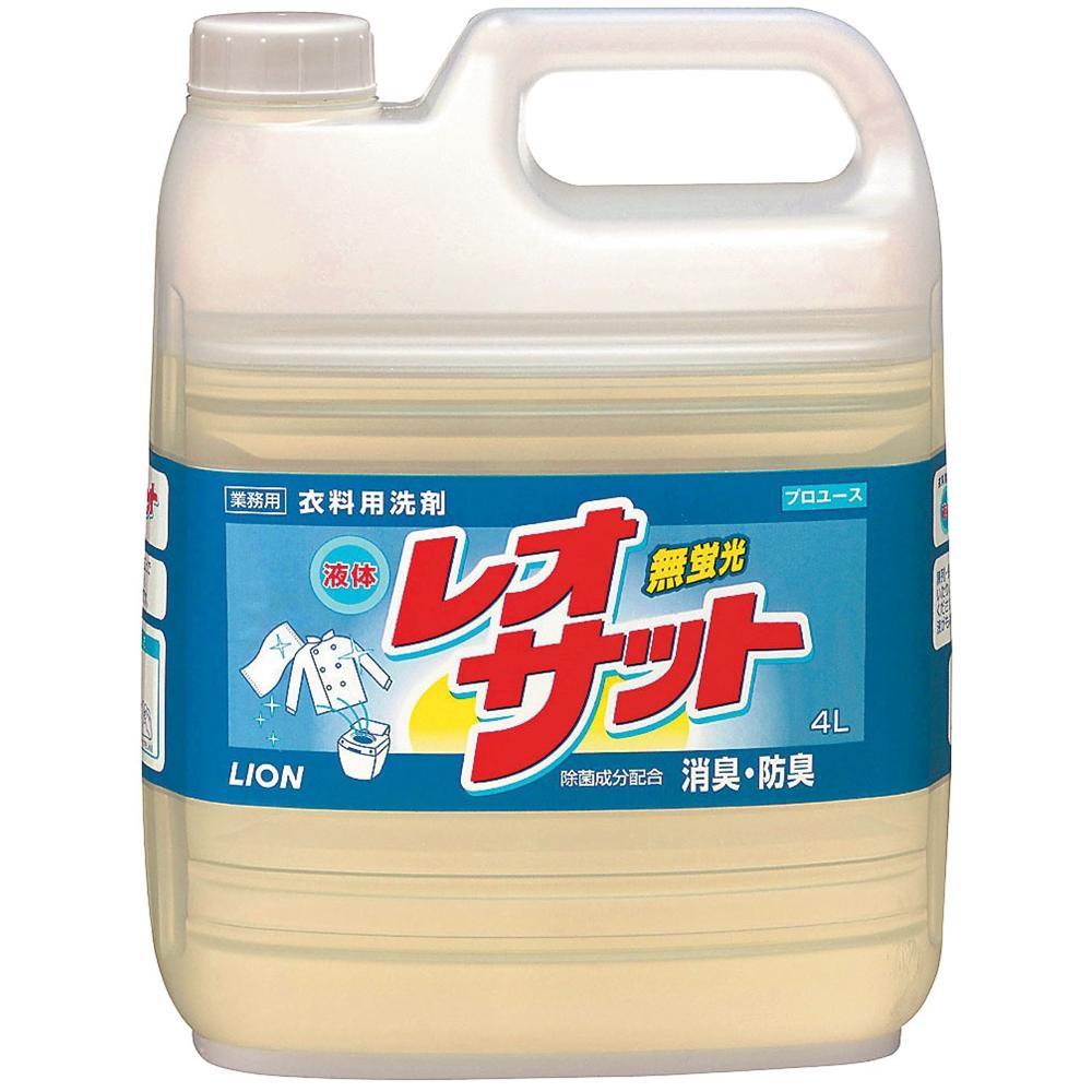 ライオン 衣料用洗剤 液体レオサット 4L