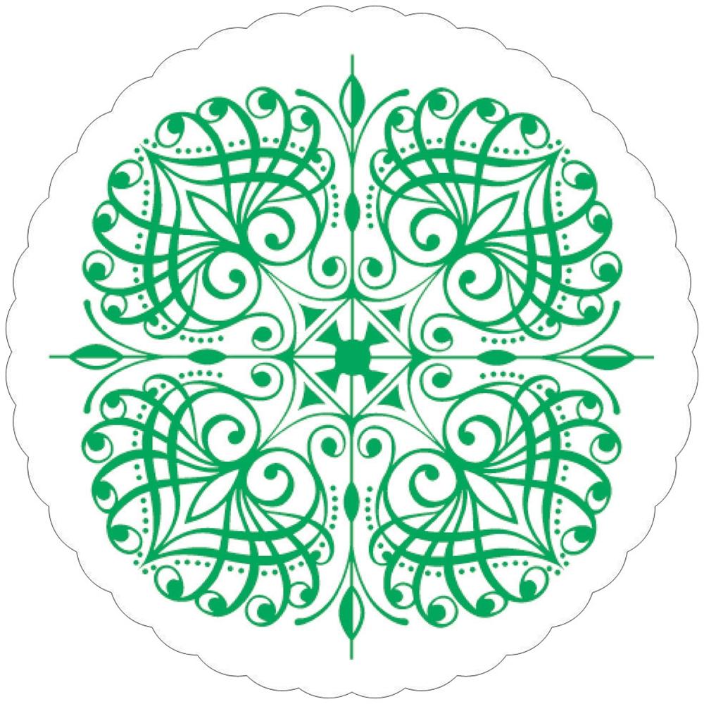 紙コースター 菊丸緑(100枚入) 10900
