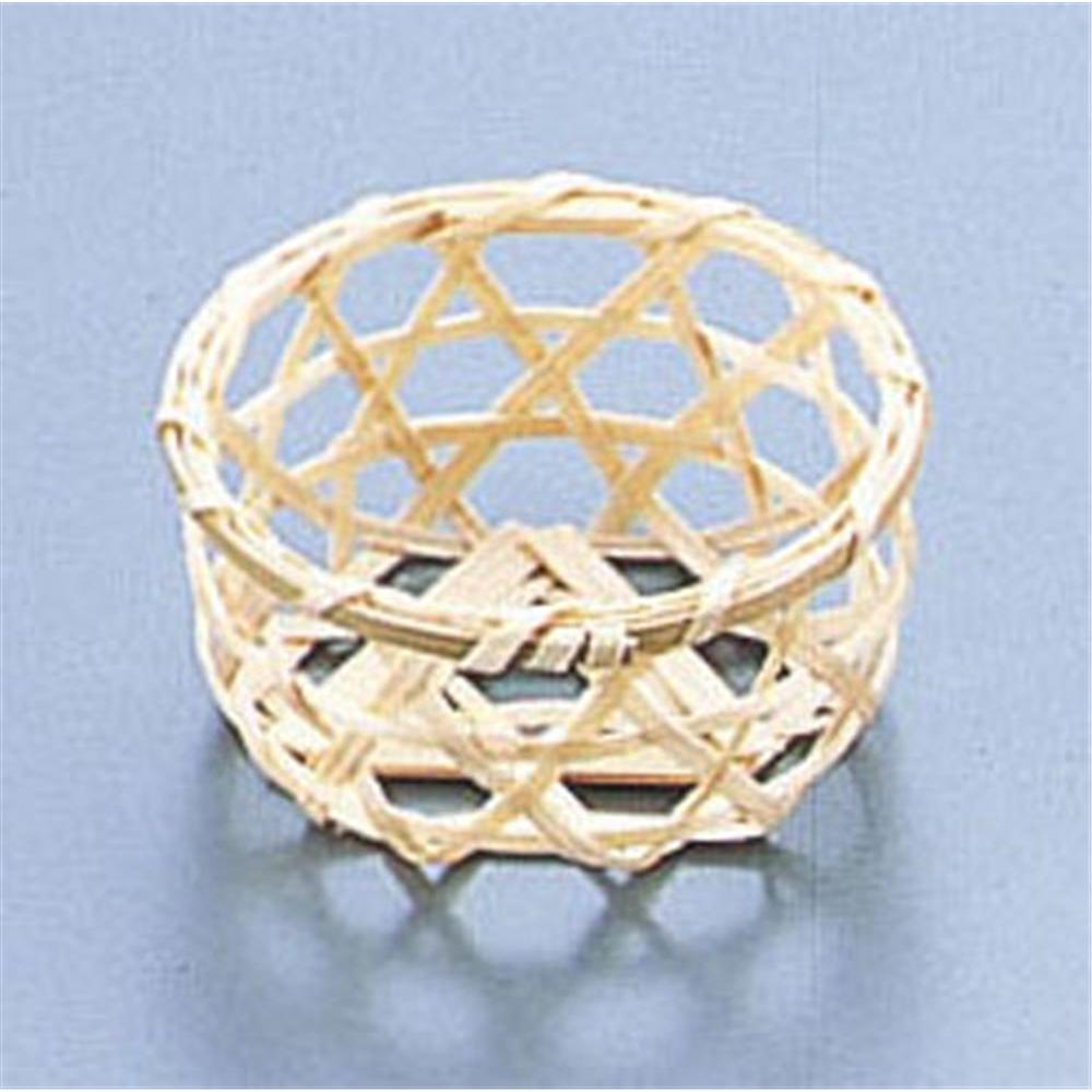 竹製 珍味籠(10個入) 3082 ミニ丸6