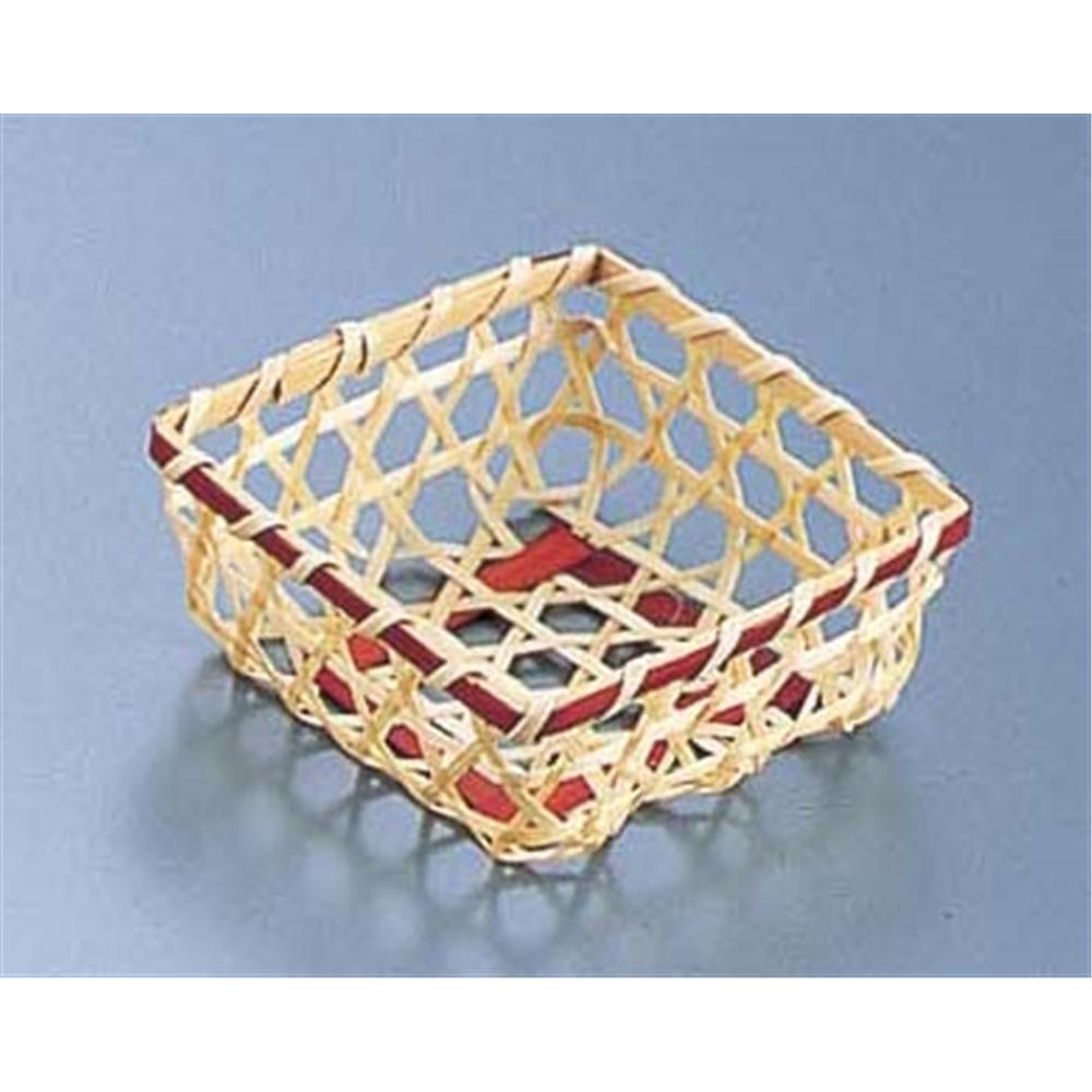 竹製 珍味籠(10個入) 3089 ミニ角8 ブラウン