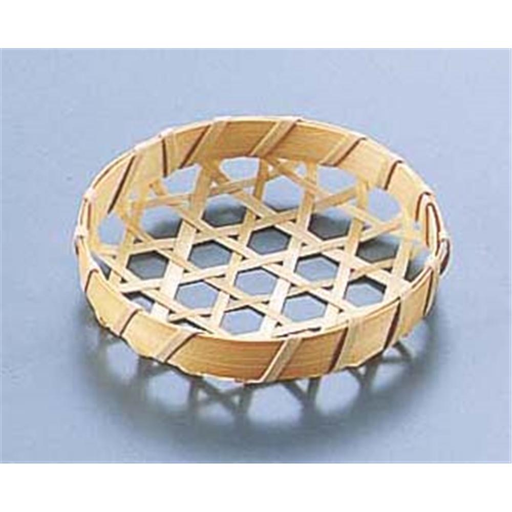 竹製 珍味籠(10個入) 3084 ミニ丸8 浅型