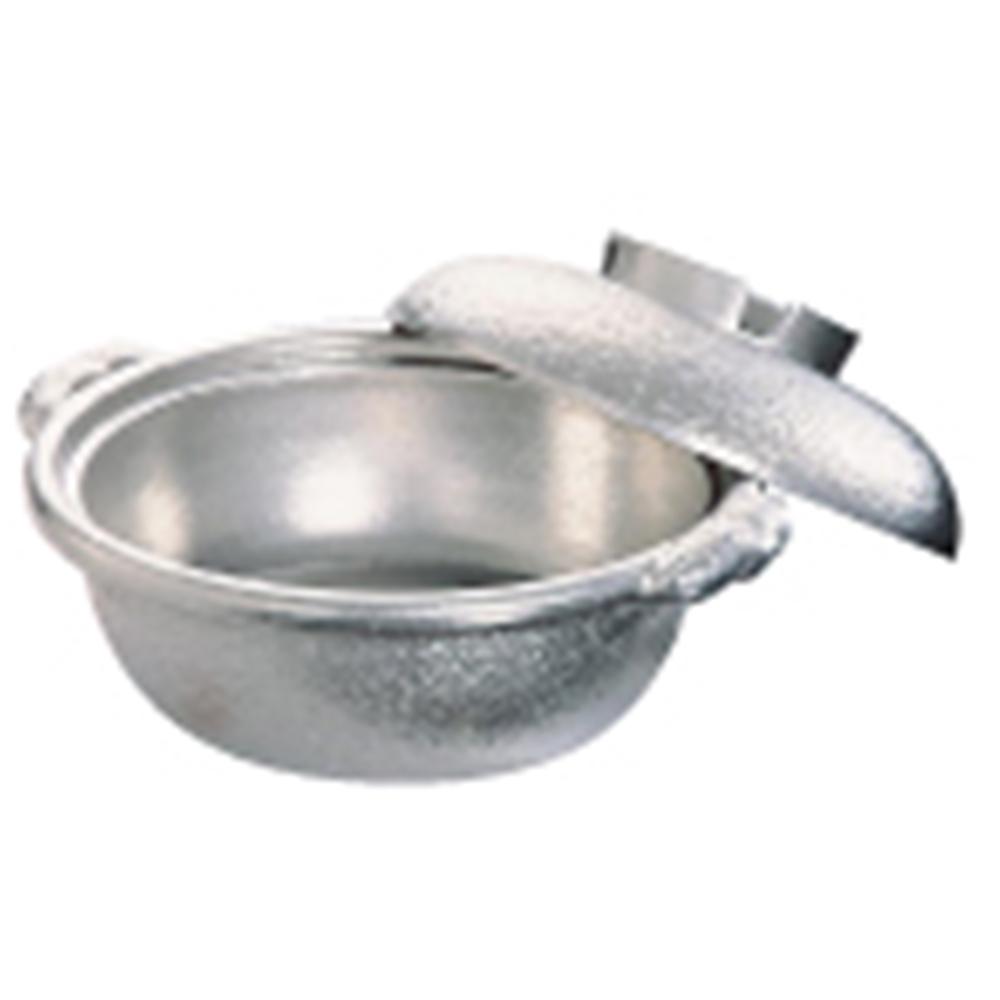 アルミ 土鍋(白仕上風) 30cm