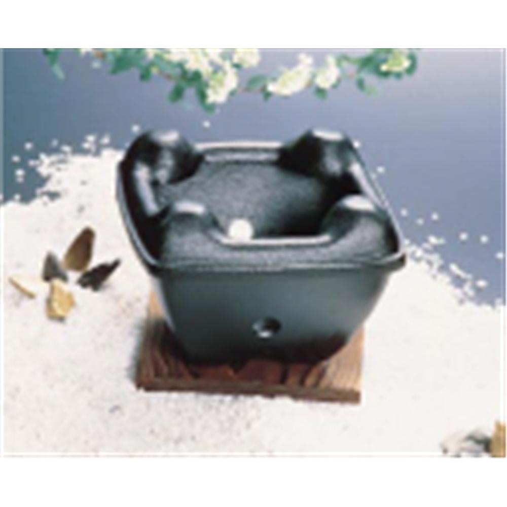 アルミ 陶器風コンロ(固形燃料皿付)