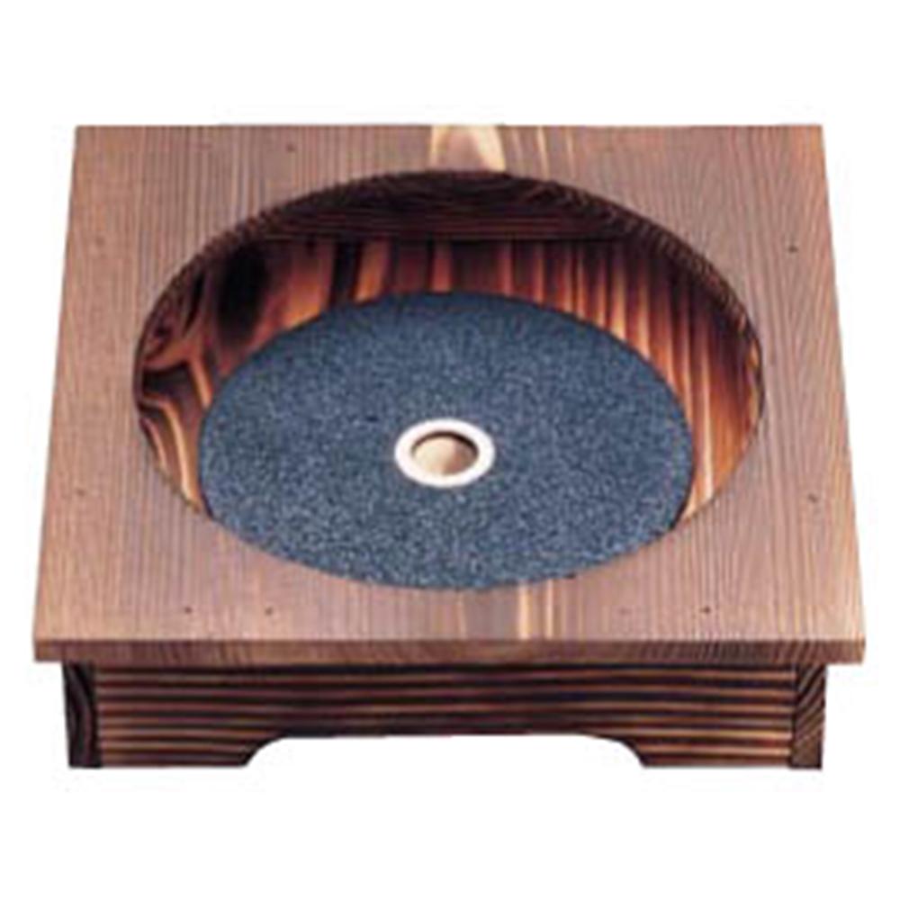 焼杉ピビンバ器用安全木台・プレートセット (18〜20cm用)