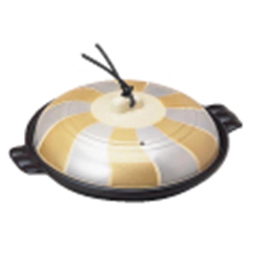 アルミ陶板鍋 金銀翔彩 19cm 深型