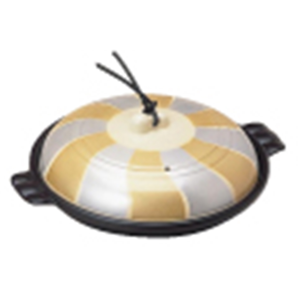 アルミ陶板鍋 金銀翔彩 19cm 特深型