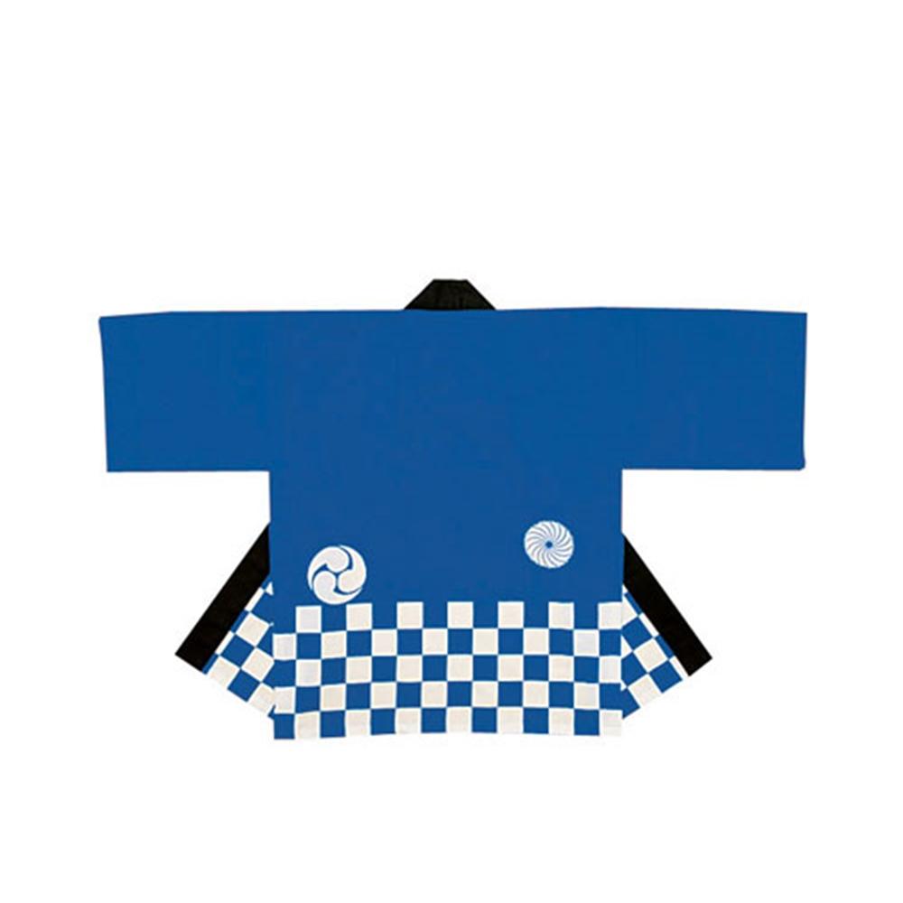 無地市松袢天(帯付) KH−20401 青