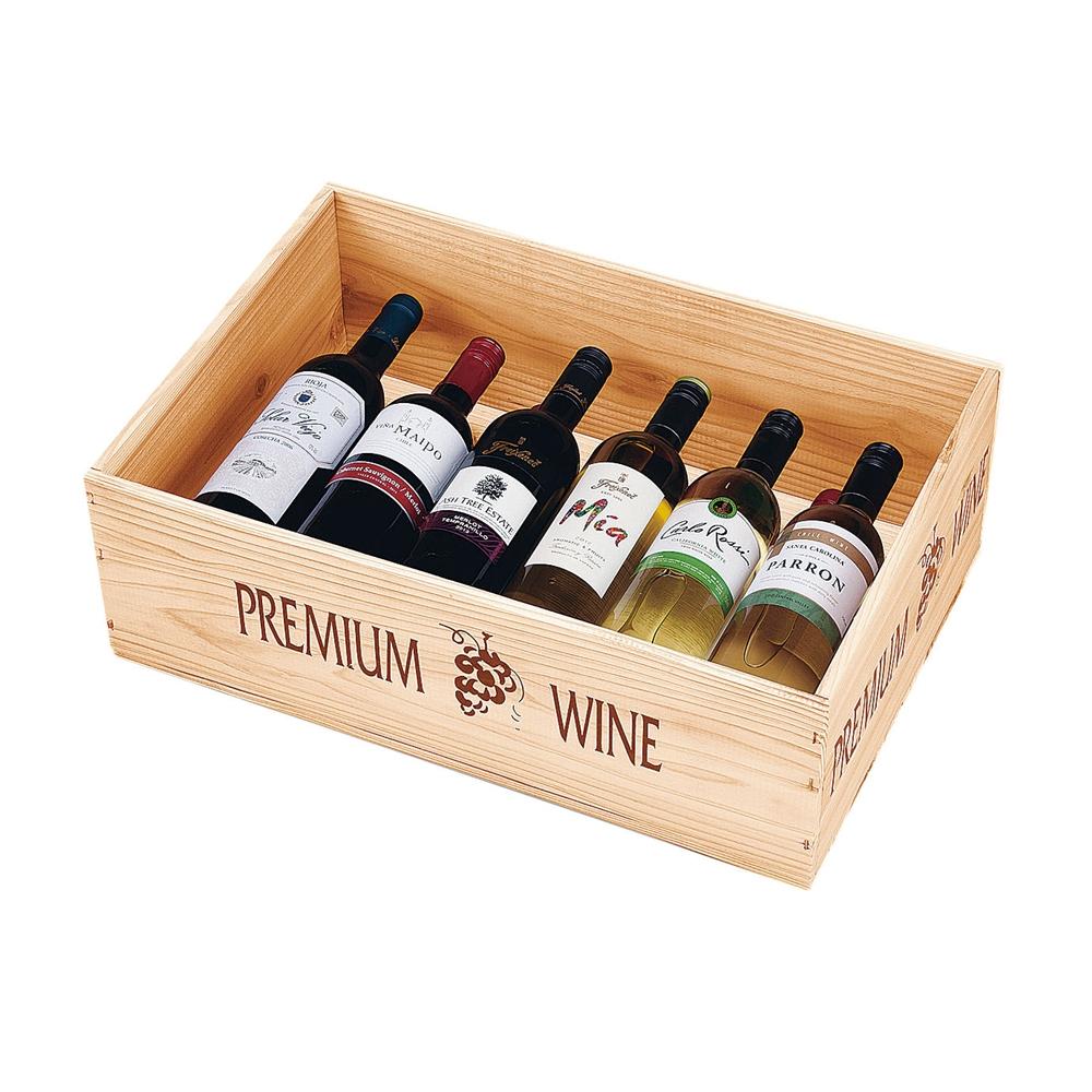陳列用木箱 W535 ワインN 白 132−55