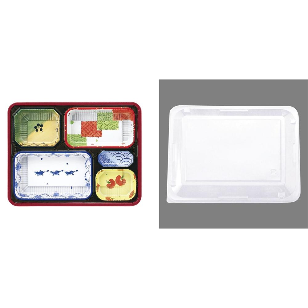 ワンウェイ耐熱お弁当容器(50セット入) T−90−70−B
