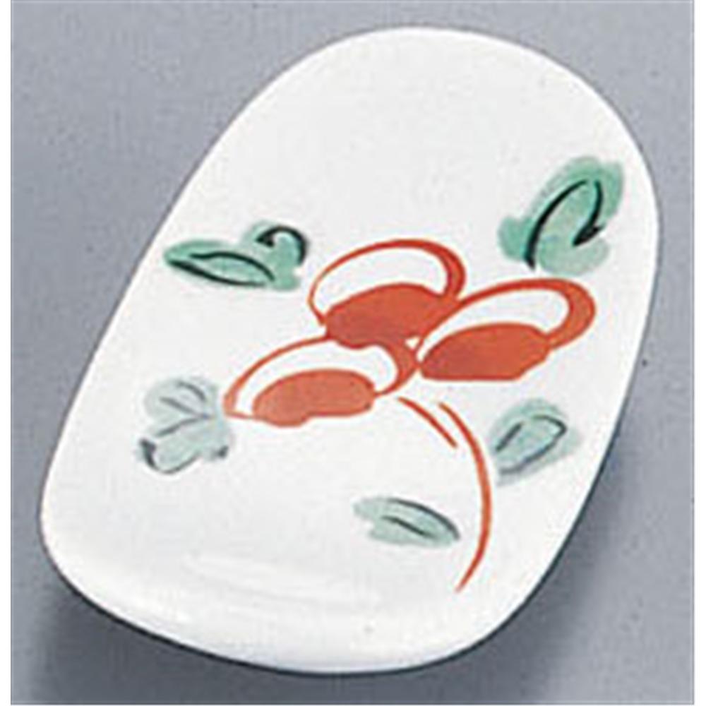 AZ9−56 イングレ花絵楕円箸置