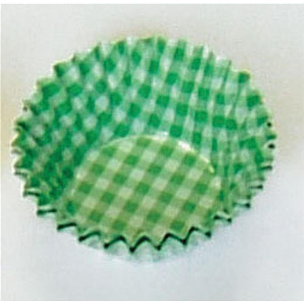 オーブンケース チェック柄(250枚入) 4号深口 緑